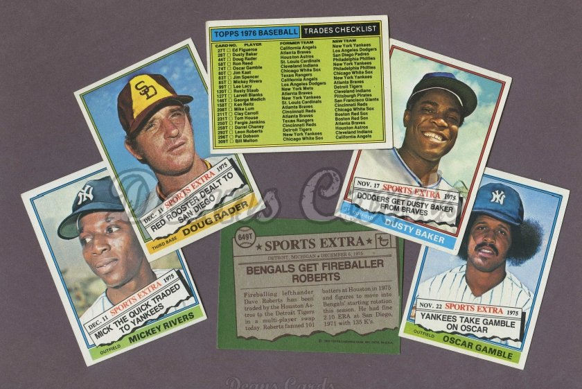 1976 Topps Traded     Baseball Complete Set
