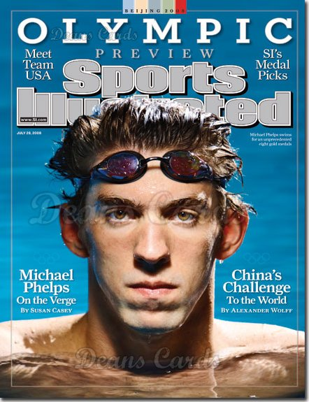 2008 Sports Illustrated   July 28  -  Michael Phelps Olympic Preview