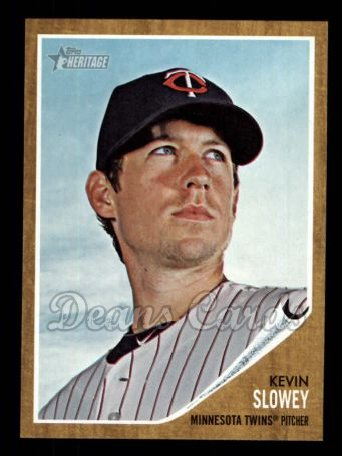 2011 Topps Heritage #166  Kevin Slowey