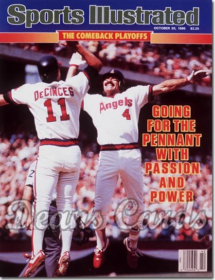 1986 Sports Illustrated - With Label   October 20  -  Bobby Grich & Doug De Cinces (California Angels)