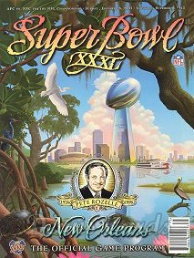 1997 Super Bowl XXXI Program - Green Bay vs. New England