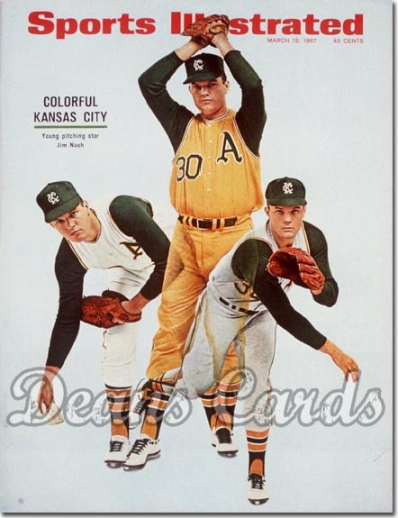 1967 Sports Illustrated - No Label   March 13  -  Jim Nash Oakland A's