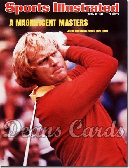 1975 Sports Illustrated - With Label   April 21  -  Jack Nicklaus