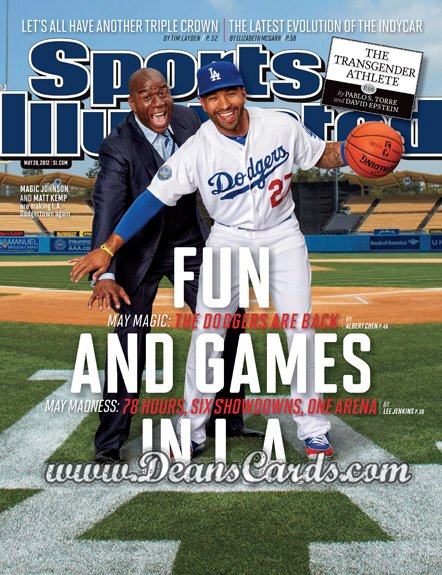 2012 Sports Illustrated   May 28  -  Matt Kemp / Magic Johnson / Fun and Games In L.A.