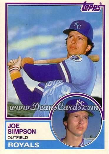 1983 Topps Traded #104 T Joe Simpson