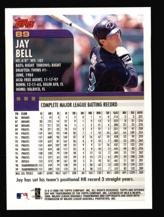 2000 Topps Opening Day #89  Jay Bell