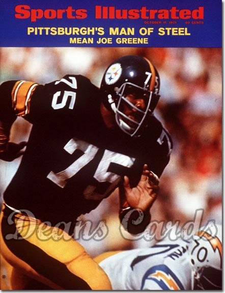 1971 Sports Illustrated - With Label   October 11  -  Joe Greene (Pittsburgh Steelers) (1st cover)