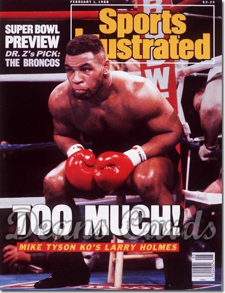 1988 Sports Illustrated - No Label   February 1  -  Mike Tyson