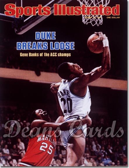 1978 Sports Illustrated - No Label   March 13  -  Gene Banks (Duke Blue Devils)