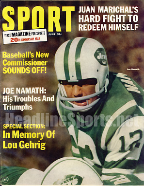 1966 Sport Magazine   -  Joe Namath  June