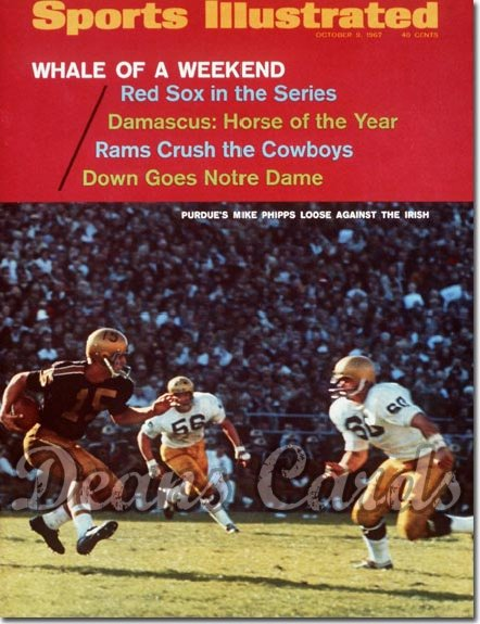 1967 Sports Illustrated - With Label   October 9  -  Mike Phipps Purdue Boilermakers