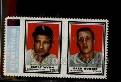1962 Topps Stamp Panels #218  Early Wynn / Glen Hobbie