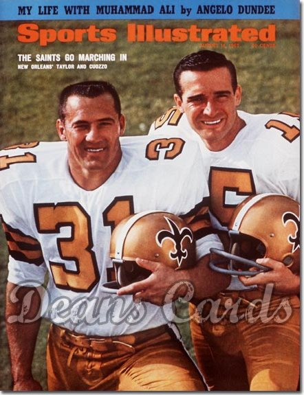 1967 Sports Illustrated   August 14  -  Jim Taylor & Garry Cuozzo (New Orleans Saints)