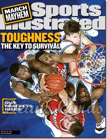 2001 Sports Illustrated - With Label   March 19  -  Duke Blue Devils / Maryland Terrapins