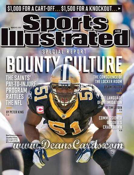 2012 Sports Illustrated - With Label   March 12  -  Jonathan Vilma / New Orleans / Bounty Culture