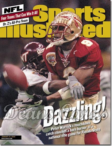 2000 Sports Illustrated   January 10  -  Peter Warrick Florida State Seminoles