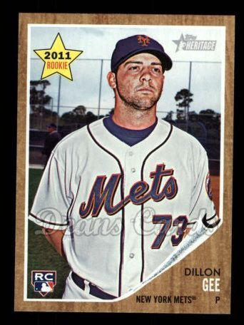 2011 Topps Heritage #181  Dillon Gee