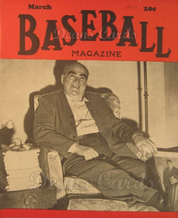 1947 Baseball Magazine    March