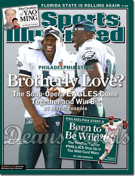 2005 Sports Illustrated - With Label   September 26  -  Donovan McNabb Terrell Owens Philadelphia Eagles