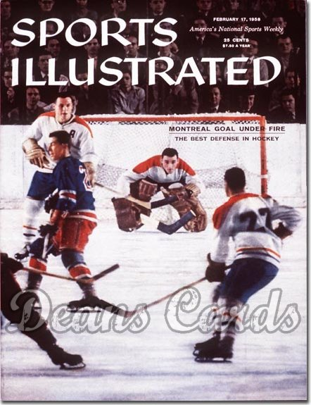 1958 Sports Illustrated   February 17  -  Jacques Plante (Montreal Canadiens)