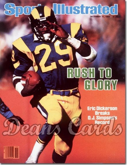 1984 Sports Illustrated - With Label   December 17  -  Eric Dickerson (Los Angeles Rams)