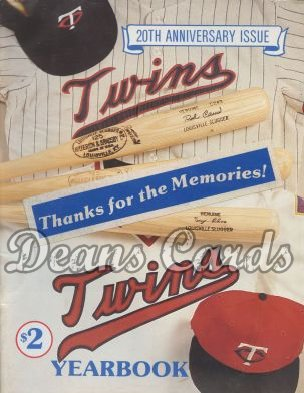 1981 Minnesota  Twins Yearbook -  20th Anniversary, Rod Carew