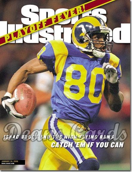 2000 Sports Illustrated   January 24  -  Isaac Bruce St. Louis Rams