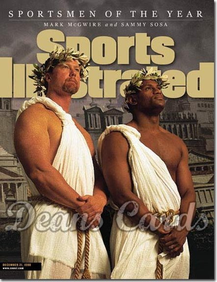 1998 Sports Illustrated - No Label   December 21  -  Mark McGwire (St. Louis Cardinals) & Sammy Sosa (Cubs)