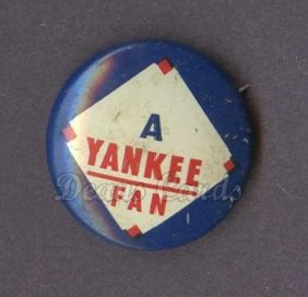 1968 Cranes Potato Chip Pin #20   Yankee Fan