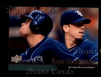 2010 Upper Deck #597   -  Evan Longoria / James Shields Rays Team Checklist