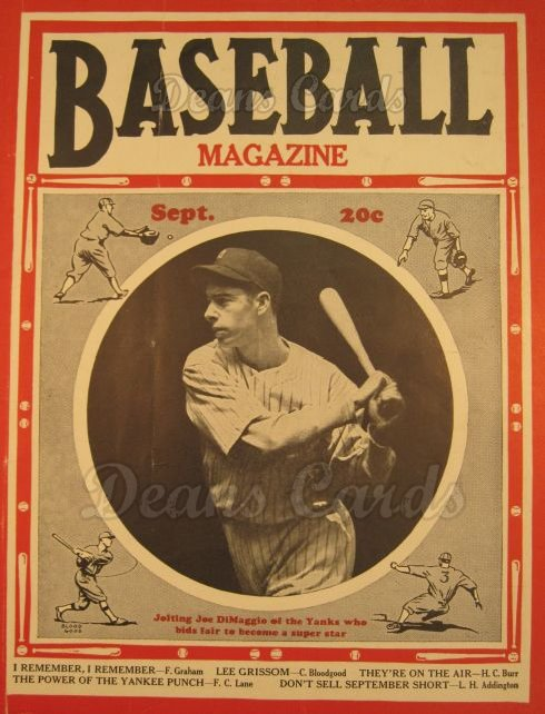 1937 Baseball Magazine    September
