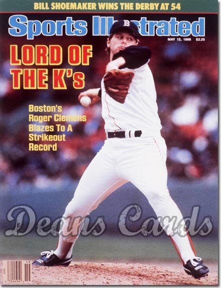 1986 Sports Illustrated - With Label   May 12  -  Roger Clemens (Boston Red Sox)