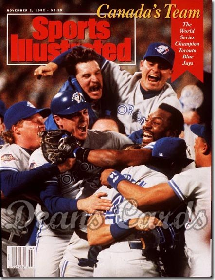 1992 Sports Illustrated - With Label   November 2  -  Toronto Blue Jays Team Jack Morris Joe Carter