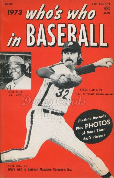 1973 Who's Who in Baseball   -  Steve Carlton