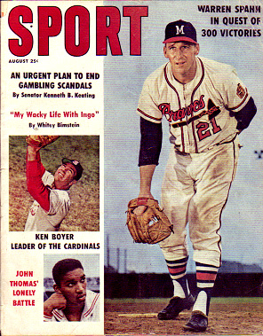 1961 Sport Magazine   -  Warren Spahn / Ken Boyer  August