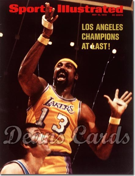 1972 Sports Illustrated - With Label   May 15  -  Wilt Chamberlain (Los Angeles Lakers)