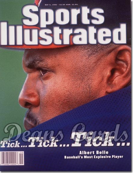 1996 Sports Illustrated - With Label   May 6  -  Albert Belle (Cleveland Indians)