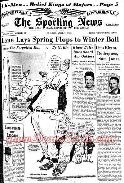1952 The Sporting News   April 9  - Monte Irvin / John McGraw