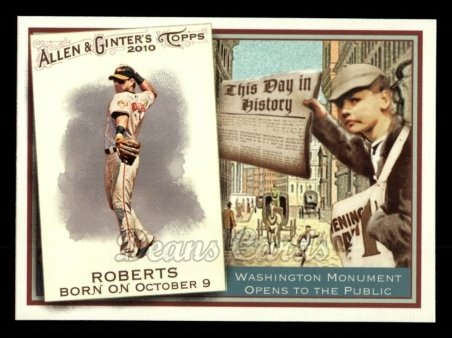 2010 Topps Allen & Ginter This Day In History #6 TDH  -  Brian Roberts This Day in History