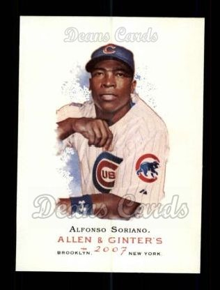 2007 Topps Allen & Ginter #180  Alfonso Soriano