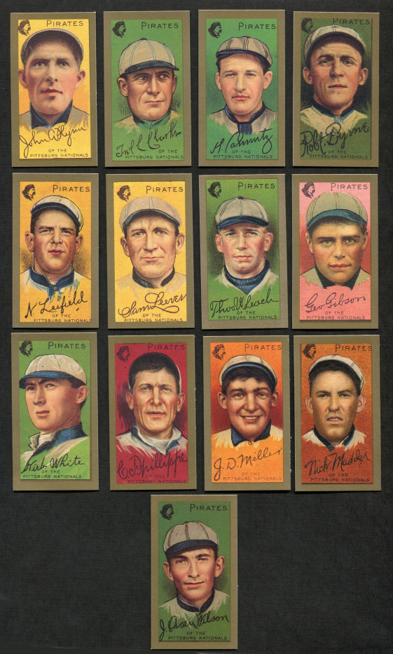 1911 T205 Gold Border Reprint    T205 Gold Border REPRINT Pittsburgh Pirates Team Set