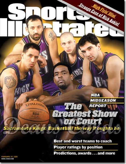 2001 Sports Illustrated   February 19  -  Sacramento Kings