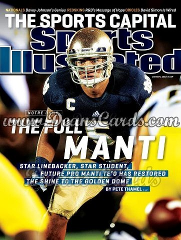 2012 Sports Illustrated   October 1  -  Manti Te'o / Notre Dame / The Full Manti