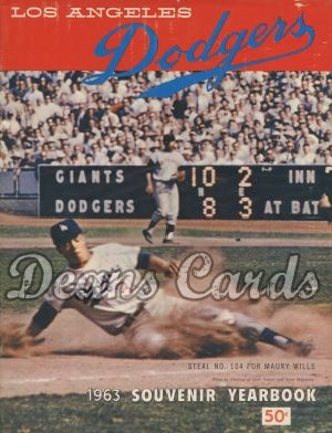 1963 Los Angeles Yearbook - Maury Wills