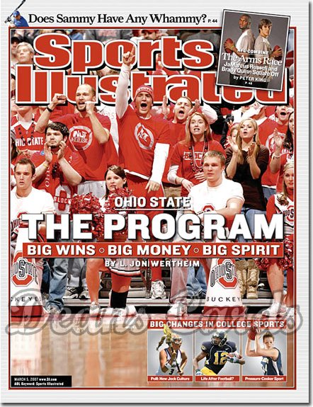 2007 Sports Illustrated   March 5  -  Ohio State Buckeyes Basketball SI