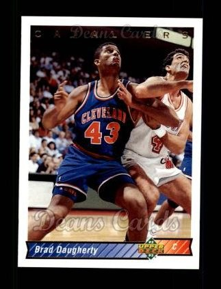 1992 Upper Deck #247  Brad Daugherty
