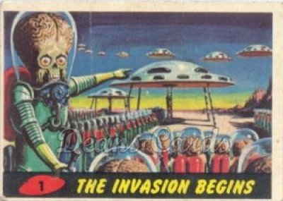 # 1 The Invasion Begins - 1962 Mars Attacks REPRINT
