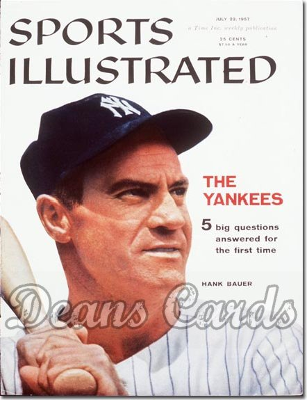 1957 Sports Illustrated - With Label   July 22  -  Hank Bauer (New York Yankees)