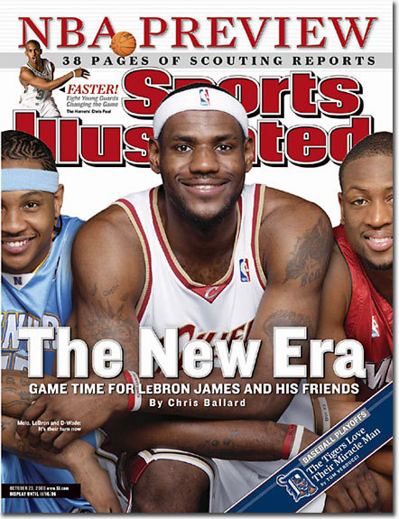 2006 Sports Illustrated - With Label   October 23  -  LeBron James Cleveland Cavaliers