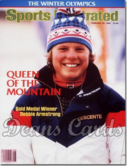 1984 Sports Illustrated - With Label   February 20  -  Debbie Armstrong Olympics Skiing